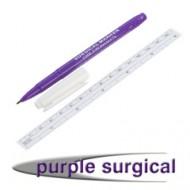 Hautmarkierstift, normale Spitze mit flexibelem Lineal